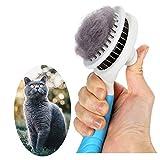 Cepillo Gatos, Cepillos Perro Autolimpiante Cepillos de Aseo para Mascotas Pets Cepillo Perros y Gatos CepilloPerro Pelo Corto Quitar el Exceso y Muerto de Pelo es Fácil de Limpiar