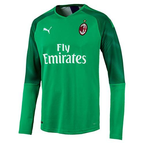 PUMA ACM GK Shirt Replica LS with Sponsor Logo, Maglia Calcio Uomo, Verde (Bright Green/Prism Violet), XL