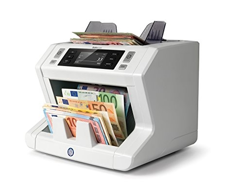 Safescan 2665-S - High-Speed Banknotenzähler mit Wertzählung für gemischte Geldscheine, mit 7-facher Falschgeldprüfungbanknote - 100%ige Sicherheit