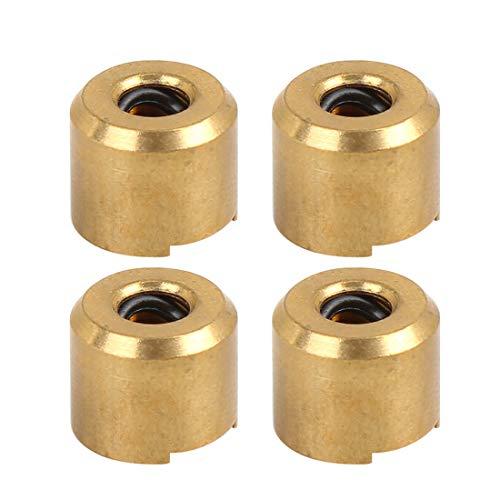 X AUTOHAUX 4 Stk. Auto Ansaugkrümmer Drallklappen Stangenbuchse Reparatur Gold Metall