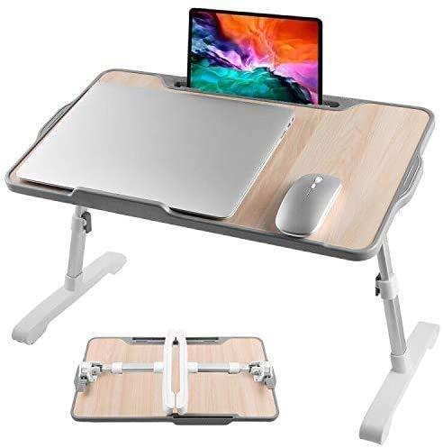GENENRAL Armor - Escritorio para ordenador portátil, ajustable, plegable, fácil de transportar, perfecto para ver películas en la cama o el sofá (sin ventilador)