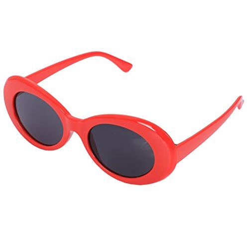 Varadyle Gafas de Sol ovales Vintage Gafas de Sol Retro de Mujer Gafas Masculino Femenino de Moda de Hombre UV400 Gafas de Sol Rojo S17022