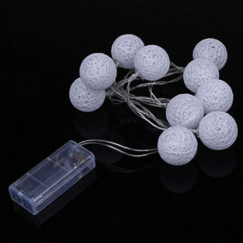 SSXCO 1,3 m 10 LED-Lichterkette kreative Wollknäuel Lampe batteriebetrieben Home Indoor Decor Lichterkette für Weihnachten Hochzeitsfeier, warmweiß