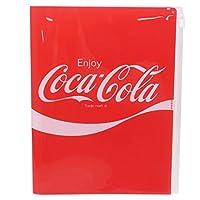 コカコーラ[ファイル]ジップファスナー付 6ポケット A4 クリアファイル/RED おやつマーケット