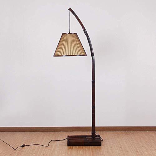 SYUTLJIA Estilo Moderno Lámpara de pie Lámpara Hecha a Mano Original de Pesca de bambú Creativo Restaurante de la lámpara Estilo japonés Sala de diseño de 153x40cm D225SLED