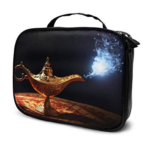 Sacs à cosmétiques pour les femmes voyagent, étui à crayons Magic Lamp From The Story Of Aladdin With Genie
