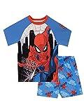 Marvel Pijamas para Niños Spiderman Azul 3-4 Años