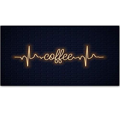 5562 Cartel de metal con diseño retro para pared, diseño de hojalata gruesa, decoración de pared para café/cocina/cafetera