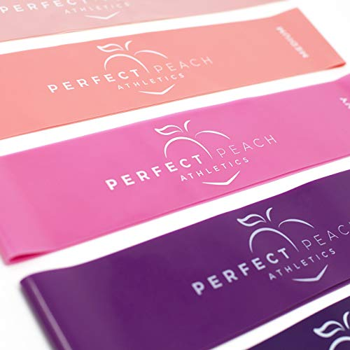 PERFECT PEACH ATHLETICS Butt Bands - Workout Bands for Legs and Butt - Booty Bands for Working Out Pink Resistance Bands - Resistance Booty Bands - Workout Booty Bands Gym Accessories for Women