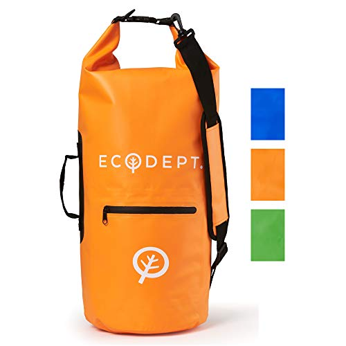 ECOdept Dry Bags Waterproof Dry Bag Backpack for Travel, Kayaking, Boating, Swimming and All Watersports ~ 2 Shoulder Straps ~ 40L Desert Sand