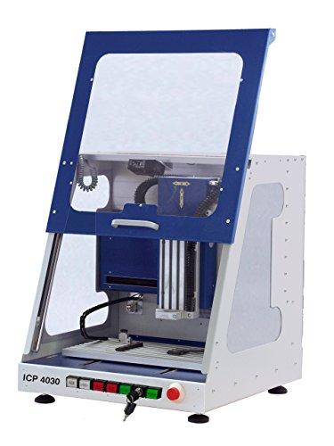 """isel ICP4030 XYZ CNC Fräsmaschine, Tischfräse, inkl. Steuerung, Fräsmotor, Längenmesstaster, Arbeitsraumbeleuchtung und Software, """"MADE IN GERMANY"""", RAL5010"""