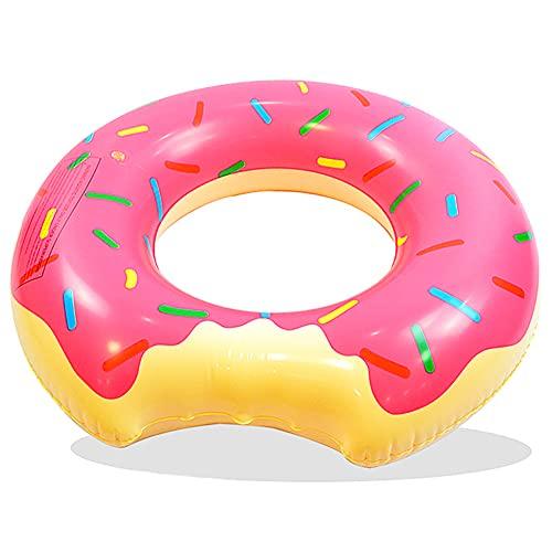 FANDE Aufblasbar Donut Ø 90 cm - Donut Schwimmring, Schwimmring Erwachsene Kinder, Riesen Schwimmreifen aufblasbar, für Party, Pool, Strand