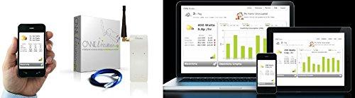 Owl Intuition-E Elektrizitätsmonitor/Energiemonitor/Energiekostenmesser Drahtloser mit Internetüberwachung und Internetverbrauchsüberwachung