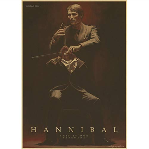 Hannibal Poster Gemälde Max Michelsen Hugh Dancy Horror Thriller Halloween Poster Und Drucke Wandbilder Home Decor 50X70Cm No Frame