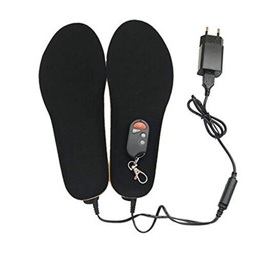 ZhengELE Elektrische beheizte Einlegesohlen Fußwärmer mit Fernbedienung 1800mAh Batterie Heizung Einlegesohlen Thermalkissen für Ski Camping (Color : Black, Shoe Size : S EUR 35 40)