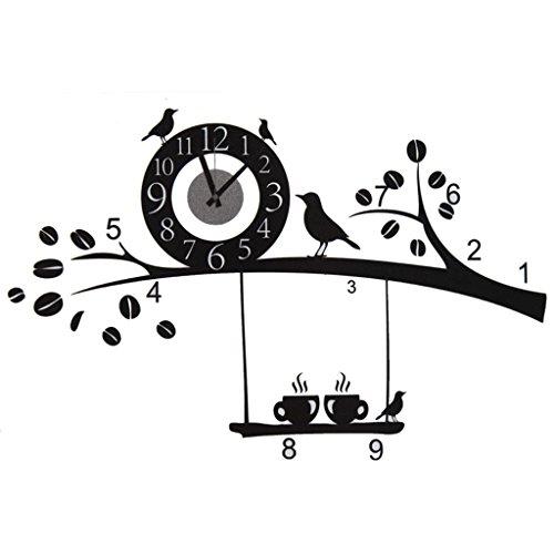 ZXS668 Home xby Reloj de Pared de pájaro Reloj de Pared de DIY Reloj de Pulsera Reloj Home xby