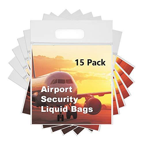 MOCOCITO Zip-Beutel | 12/15 Stück 20 x 20cm | Dry-Bag Wasserdicht Geruchsdicht & Sicher | Flugzeug-Reise-Zulassung | Kulturbeutel Beutel Transparent… (15PCS)