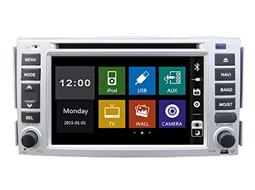 15,7cm In-Dash lettore DVD con BT/TV, USB/SD, AUX audio radio stereo, auto multimediali autoradio per Hyundai Santa Fe/HYUNDAI ELANTRA 200020072008200920102011200120022003200420052006
