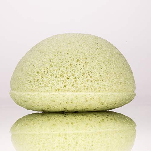 Konjac Éponge pour peau mixte Argile verte