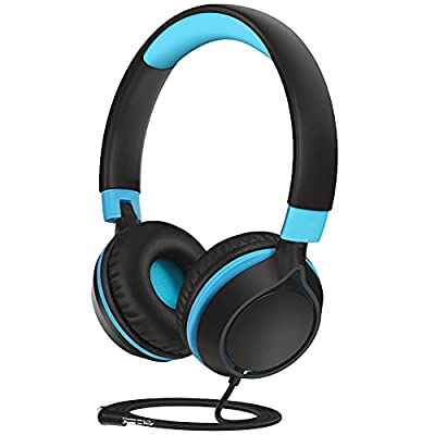 Kids Headphones, CHE1 Wired Headphones for Kids Teens Children Boys Girls with Volume Limit 94dB, Foldable Adjustable On Ear Headphones for School, Travel, Compatible with Cellphones, Tablets, PC by Childgem