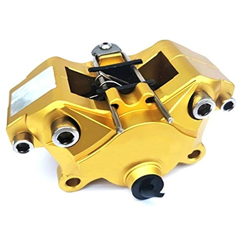 Bremssattel Universal-Motorrad-Bremssattel 64mm Montagelochabstand 32mm * 2 Kolben Modification (Color : Gold, Size : Kostenlos)