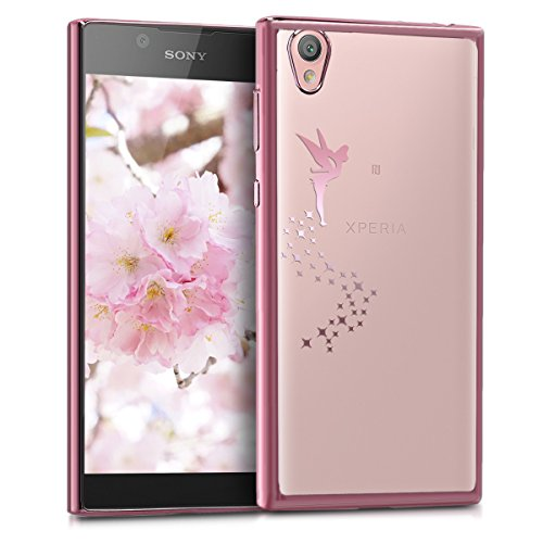 kwmobile Sony Xperia L1 Hülle - Handyhülle für Sony Xperia L1 - Handy Case in Fee Design Rosegold Transparent
