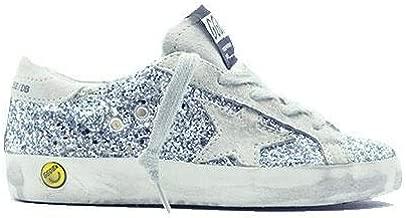 Golden Goose Kids Superstar Sneaker Silver Moon/Glitter GCOKS301.R8