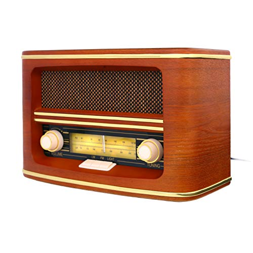 Camry CR-1103 - Radio de Madera Retro con Nostalgia Mira FM