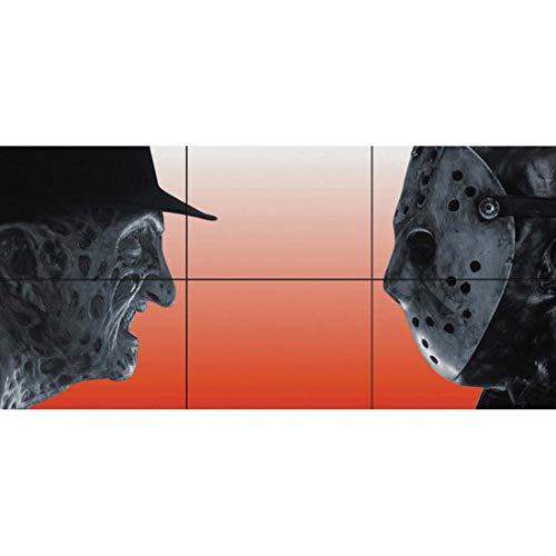 Doppelganger33 LTD Freddy Krueger Vs Jason Voorhees Horror Movie Film Characters Wand Kunst Multi Panel Poster drucken 50x23 Zoll