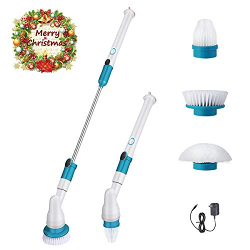 2020 New Spin Scrubber, 360 Cordless Tub and Tile Scrubber, Multi-Purpose Power Surface Cleaner with 3 Replaceable Cleaning Scrubber Brush Heads, 1 Extension Arm and Adapter