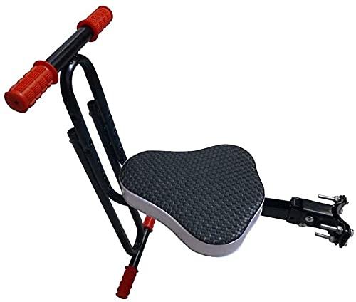 X&Y Asiento de Bicicleta para niños de Montaje Frontal Seguro, niños Sillín eléctrico Bicicleta de Bicicleta eléctrica para niños Asiento Delantero Asiento Delantero Cojín de Silla (Color : Black)