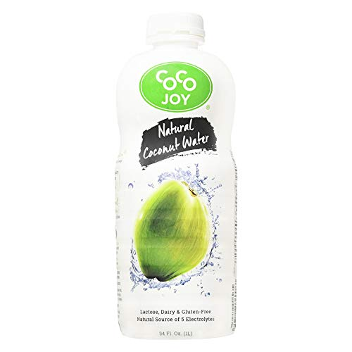 Coco Joy Coconut Water 34 Fl oz - Refreshing Low Calorie, High Calcium Drink Packed with Electrolytes, Potassium, and Other Necessary Nutrients, Paelo Diet (6 Pack)
