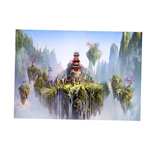 Baoblaze PVC Aquarium Hintergrundkleber Unterwasser Waldtank Hintergrund Poster - Märchenland, 61 x 30 cm