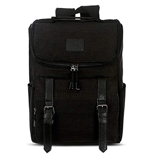 HUIFANGBU Universal Multi-Function Canvas Laptop Computer Shoulders Bag Leisurely Backpack Students Bag, Size: 43x30x14cm, For 15.6 inch and Below Macbook, Samsung, Lenovo, Sony, DELL Alienware, CHUWI