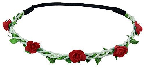 Blumen Haarband Bella mit kleinen Rosen - Rot