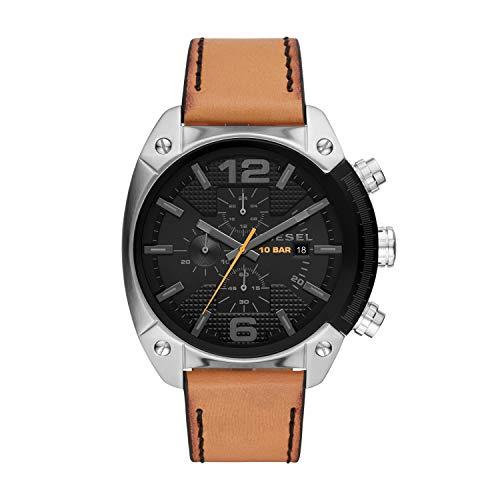 Diesel Herren Chronograph Quarz Uhr mit Leder Armband DZ4503