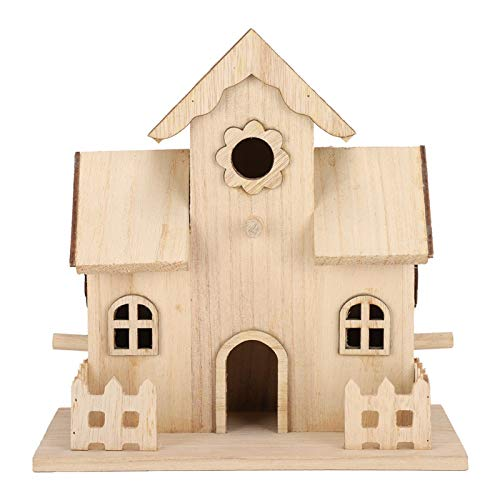 Casa de Madera para pájaros, nidos de pájaros para Mascotas, Caja de Nido para Casas, Accesorios para pajareras, decoración para jardín al Aire Libre