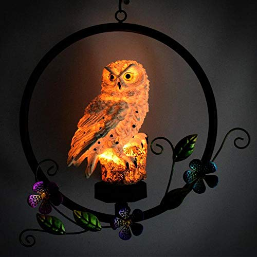 28.5 * 9.5 * 49.5cm LED Solar Owl Shape Night Light Hanging Lamp for Courtyard Decoration 28.5 * 9.5 * 49.5cm