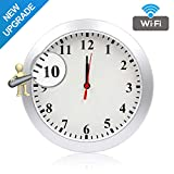 Newwings 1080P WiFi Camera Wall Clock Hidden Nanny Cam with Motion Detection, Indoor Security Camera for Home and Office, No Night Vision No Audio