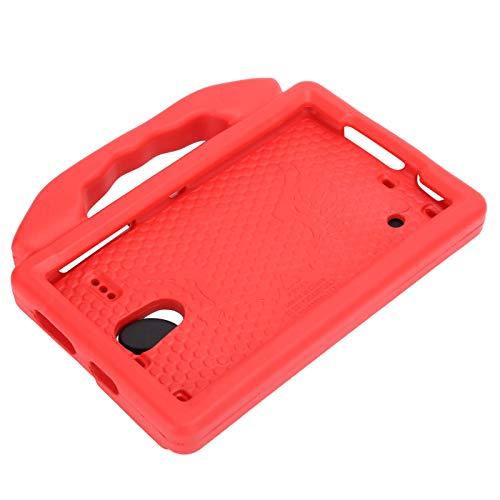 Funda protectora para tableta Galaxy, 8 pulgadas SM-T330 / T331 / T377 / T380 / T385 / T387 Funda protectora de EVA anti-caída a prueba de golpes, Funda protectora suave (rojo)