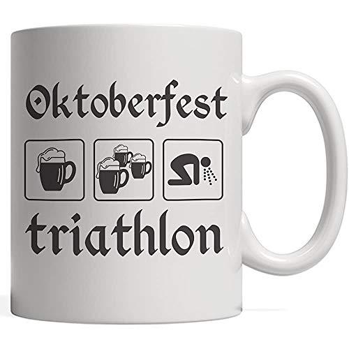 Porselein Mok Oktoberfest Triathlon Grappige Tri Octoberfest bierfeest Dit oktober Beste Duitsland Beerfest Festival! om te drinken met uw Duitse drinken M in Lederhosen laarzen en hoed!