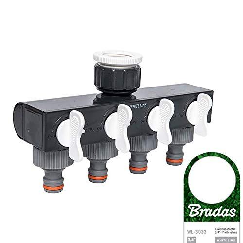 Arbeitsbedarf24.de Répartiteur 4 voies réglables pour tuyau d'arrosage