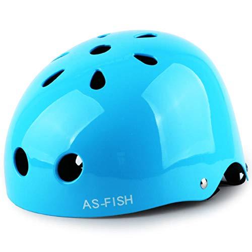 Kinder Rollschuh Helm Mädchen Sommer Schutzausrüstung Set Schlittschuhe Baby Fahrrad Kleinkind Schutzhelm Reiten-L Code hellblau_S [Für 3-6 Jahre alt]