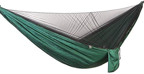 WMYATING Hamaca de 290 x 140 cm, automática, de apertura rápida, antimosquitos, hamaca individual al aire libre, con mosquitero, hamaca de recreación al aire libre, ligera, portátil