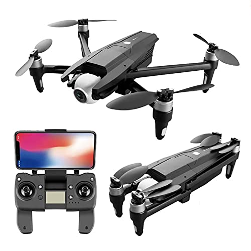 GZTYLQQ Drone GPS 3KM con cámara HD Doble 6K 30 Minutos Mini Drones Motor sin escobillas Cuadricóptero RC Plegable Drone de fotografía aérea Profesional, 3 baterías