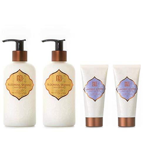 AKALIKO Blooming Jasmine Body Lotion and Lavender Cherish Hand Cream - Set B.