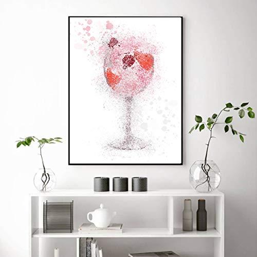 Danjiao Hauptdekor Druckt Malerei Nordic Alcohol Drink Graffiti Pictures Wandkunst Modular Canvas Poster Modern Für Bedside Background Wohnzimmer 60x90cm