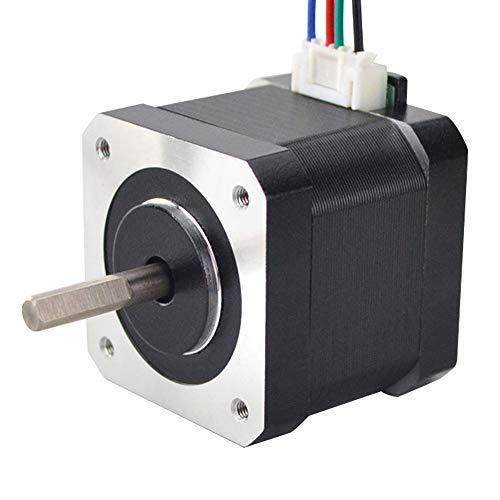 STEPPERONLINE Schrittmotor Nema 17 45Ncm 1.5A 12V 39mm 4-Draht 1.8 Deg Stepper Motor mit 1M Draht für 3D Drucker