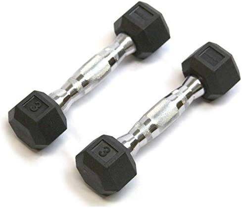 Detroit Popular brand Weight Co DWC Hex Dumbbells Rubber Coated Pairs for Popular C