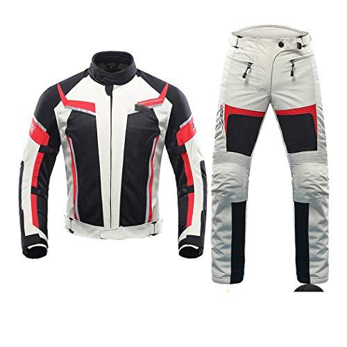 Chaqueta de motocicleta de verano para hombres,Trajes de carreras de motocross,Traje de chaqueta y pantalón,Traje de ropa de moto transpirable de malla